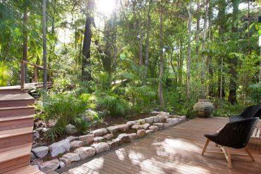 Lush green gardens at 22 mitti street little cove