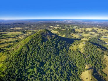 aerial view of noosa hinterland